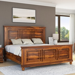 Pecos Mission Solid Wood Platform Bed Frame