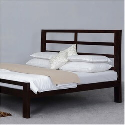 Modern Rustic Open Design Solid Wood Platform Bed w Headboard