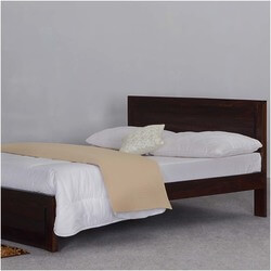 Rockford Solid Wood Contemporary Platform Bed w Headboard