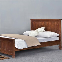 Santa Fe Mission Solid Wood Rustic Platform Bed w Foot & Headboard