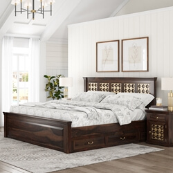 Diamond Empire Solid Wood Storage Platform Captains Bed