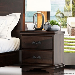 Hartsville Modern Pioneer Solid Wood Two Drawer Nightstand