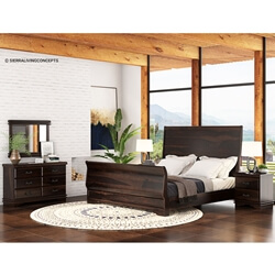 Sleigh Back 7 Piece Bedroom Set