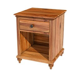 Livingston Solid Wood Nightstand End Table Cabinet