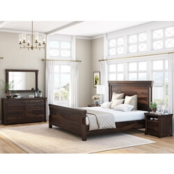 Pioneer Transitional 7 Piece Bedroom Set