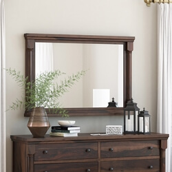 "Pioneer Transitional Solid Wood 36"" by 40"" Framed Mirror"