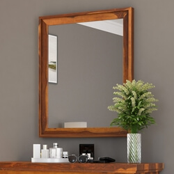 Pecos Solid Wood Rustic Dresser Mirror with Frame