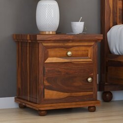 Pecos  Solid Wood 1 Drawer Nightstand Cabinet