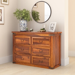 Classic Shaker Solid Wood Bedroom 6 Drawer Double Dresser
