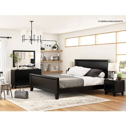 Modern Simplicity Mocha 7 Piece Bedroom Set