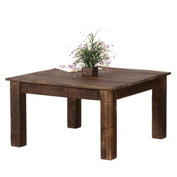 "Rustic & Real Solid Mango Wood 31"" Square Coffee Table"