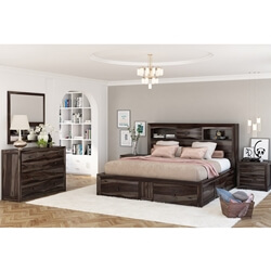 Modern Pioneer 4 Piece Captains Bedroom Set