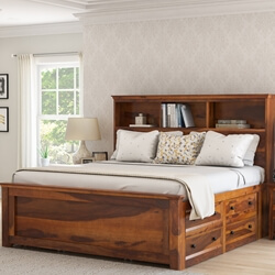 Mission Modern Solid Wood Platform Storage Bed