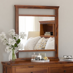 Mission Modern Solid Wood Standing Vanity Bedroom Mirror Frame