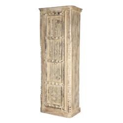 Ozona Reclaimed Wood Single Door Tall Rustic Armoire