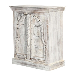 Cheshire White Arched Door Solid Wood Storage Cabinet