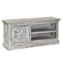 "Palazzo 59"" Rustic Handcrafted Solid Wood Media Storage Console"