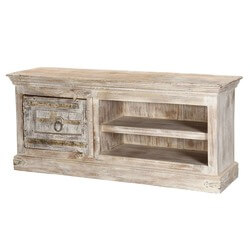 Winter Gothic Mango & Reclaimed Wood TV Console Media Cabinet