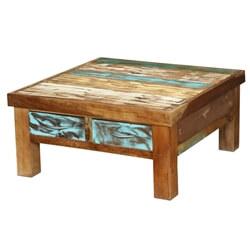 Seoul Rustic Reclaimed Wood 4 Drawer Coffee Table