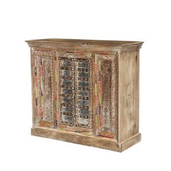 Tangier Global Design Handcrafted 2 Door Rustic Buffet Cabinet