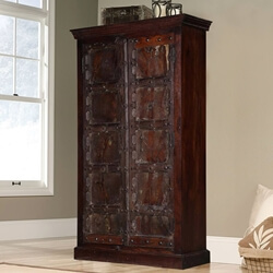 Duval Reclaimed Wood Handcrafted 2 Door Rustic Armoire