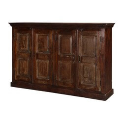 Stratton Traditional Mango Wood Rustic Sideboard Cabinet