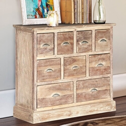 Rustic Pioneer Blonde Mango Wood Standard Horizontal 9 Drawer Dresser