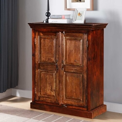Shaker Rustic Mango & Reclaimed Wood Freestanding Accent Cabinet