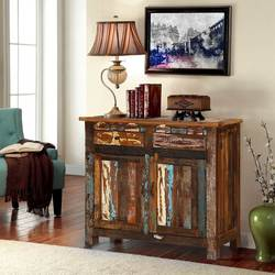 Alorton Rustic Colors Reclaimed Wood 2 Drawer Buffet Cabinet
