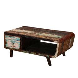 1950's Retro Reclaimed Wood TV Console Media Cabinet