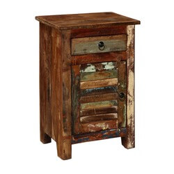 Atlanta Chic Reclaimed Solid Wood 1 Drawer Nightstand