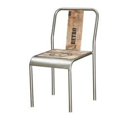 Phoenix Retro Handcrafted Iron and Solid Wood Chair