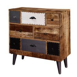 Renton Rustic Mango Wood Accent Industrial Dresser Chest