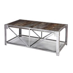 Windsor Mango Wood Industrial Accent Coffee Table with Iron Legs