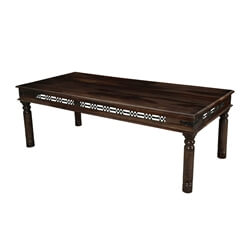 Philadelphia Classic Solid Wood Iron Grill Large Rustic Dining Table