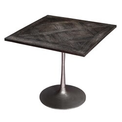 "Industrial Cafe Mango Wood & Iron 31"" Square Dinette Table"