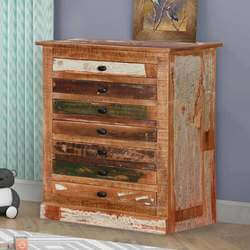 Modern Pioneer Reclaimed Wood 7 Drawer Accent Bachelor's Chest