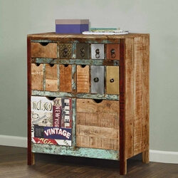 Phoenix Rustic Reclaimed Wood 13 Drawer Dresser Chest