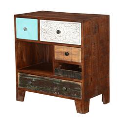 Rochester Rustic Mango Wood 5 Drawer Accent Dresser Chest