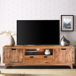 Augusta Handcrafted Rustic Solid Wood TV Media Cabinet