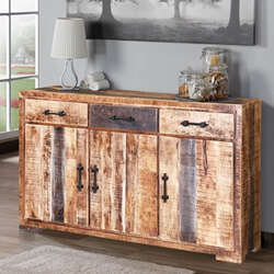 Shenandoah Solid Wood 3 Drawer Rustic Buffet