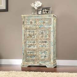 Brookline Weathered Reclaimed Wood 2 Drawer Accent Cabinet