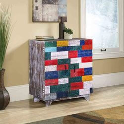 Tuftonboro Conch Carving Shutter Door Reclaimed Wood Storage Cabinet