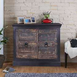 Columbia Gothic Reclaimed Wood Two Door Rustic Storage Cabinet