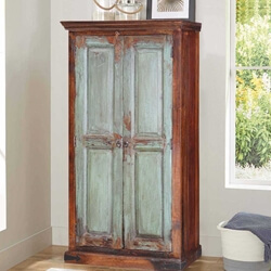 Shaker Frosted Front Mango Wood Freestanding Wardrobe