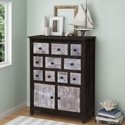 Collectors Classic Mango Wood 10 Drawer Rustic Combo Dresser