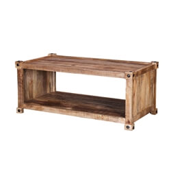"Vail 48"" Handcrafted Solid Wood Rustic Coffee Table"