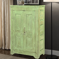 Bellerive Handcrafted Rustic Reclaimed Wood Storage Cabinet