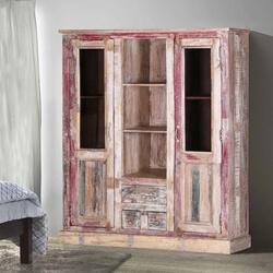 Blue Ridge Reclaimed Wood 2-Door Rustic Display Cabinet