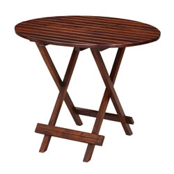 Handcrafted Solid Wood Oval Folding Rustic Garden Table